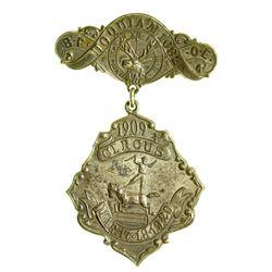 BPOE Circus Badge, 1909