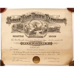 Alaska-Yukon-Pacific Exposition Diploma