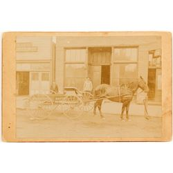 Edgewood Butter Delivery Wagon Photo (Spokane, Washington)