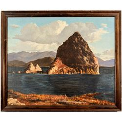 Pyramid Lake Painting featuring The Pyramid