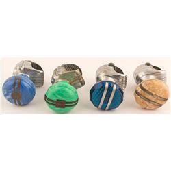 4 Vintage Bakelite Suicide Spinner Knobs