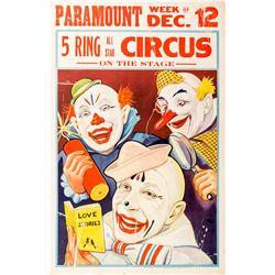 "Paramount ""5 Ring Circus"" Broadside"