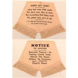 Pink Panties Advertising Piece