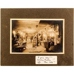 Matted Blacksmith Shop Photo
