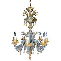 Murano Glass Chandelier, the Finest and Fanciest of Venetian Glass Chandeliers