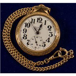 Burlington Bull Dog Gold Watch with Chain
