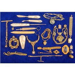 Case of Antique Jewelry