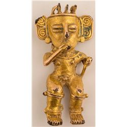 Gold Cocle Gold Figurine, Costa Rica