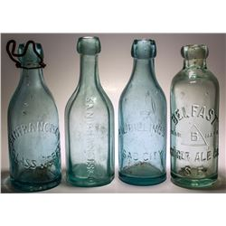 California Embossed Soda Bottle Group