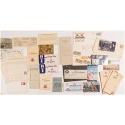 US Ephemera Collection (Military, Railroad, Expo, Covers, Etc)