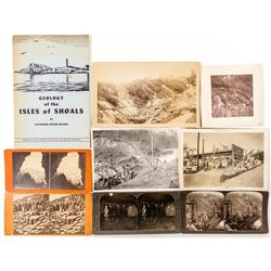 Misc. Mining Photos and Stereoviews plus a Geology Book