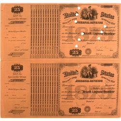 Eight IRS Retail Liquor Dealer Documents c.1870s