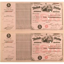 Three IRS Retail Liquor Dealer Documents c.1880s