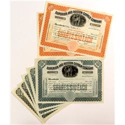 Superior And Boston Copper Company Stock Certificates (7)