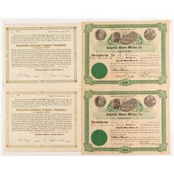 Chloride-Arizona Copper Mining Stock Certificates