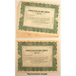 Kingman Silver-Gold Mines Company Stock Certificates (29)