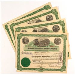 Miami Consolidated Mines Company Stock Certificates (4)