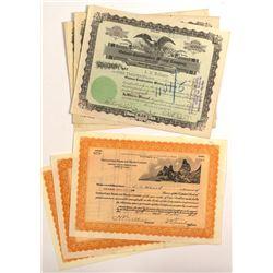 6 Oatman Mining Stock Certificates