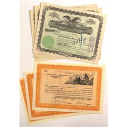 6 Oatman Mining Stock Certificates