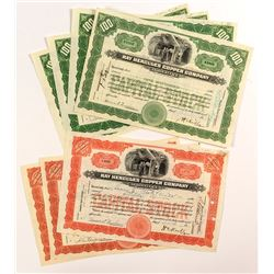 Ray Hercules Copper Company Stock Certificates (7)