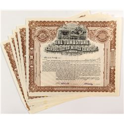 Tombstone Consolidated Mines Company Stock Certificates (5)