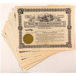 Bunker Hill Arizona Mining Company Stock Certificates (16)