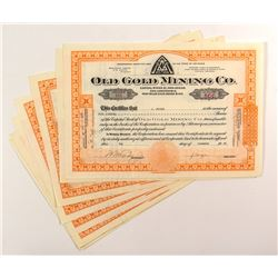 Old Gold Mining Co. Stock Certificates (8)