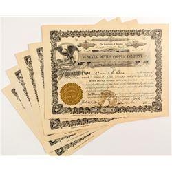 Seven Devils Copper Company Stock Certificates