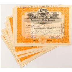 Western Apex Mining Company Stock Certificates (14)