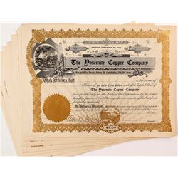 Yosemite Copper Company Stock Certificates