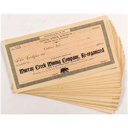 Murray Creek Mining Stock Certificates (66)