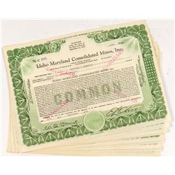 Idaho Maryland Consolidated Mines Stock Certificates (13)