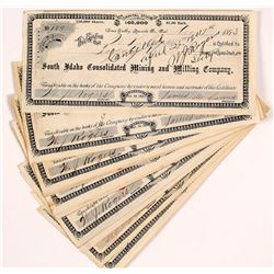 South Idaho Consolidated Mining and Milling Company Stock Certificates (15)