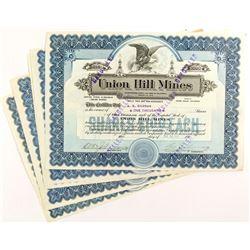 Union Hill Mines Stock Certificates (6)