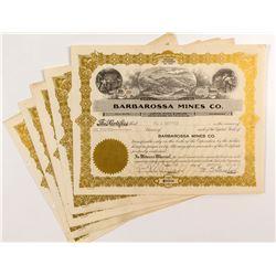 Barbarossa Mines Co. Stock Certificates (7)