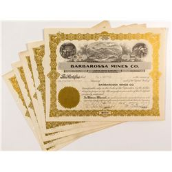 Barbarossa Mines Co. Stock Certificates (7)