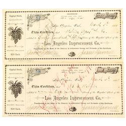 Los Angeles Improvement Co. Stock Certificates (2)