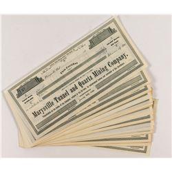 Marysville Tunnel and Quartz Mining Stock Certificates (56)