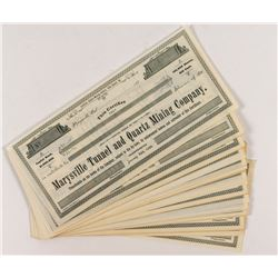 Marysville Tunnel and Quartz Mining Stock Certificates (56)