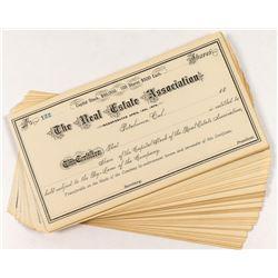 Real Estate Association Stock Certificates (50+)