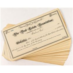 Real Estate Association Stock Certificates (50+)