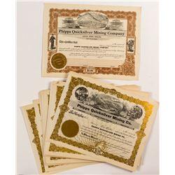 Phipps Quicksilver Mining Company Stock Certificates (80)