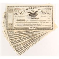 Pacific Guano Company Stock Certificates (13) c.1860s