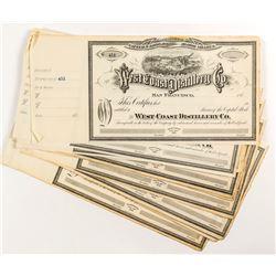 West Coast Distillery Co. Certificates (16)