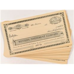 Western Investment Company Stock Certificates (50)