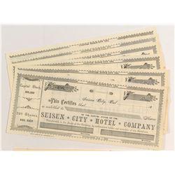 Suisun City Hotel Stock Certificates (9)
