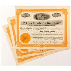 Trinity Dredging Company Stock Certificates (3)
