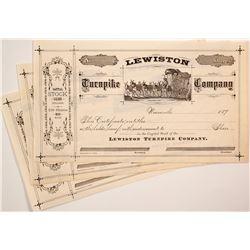 Three Lewiston Turnpike Company Stock Certificates