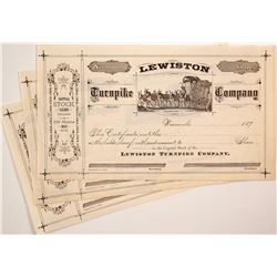 Three Lewiston Turnpike Company Stock Certificates
