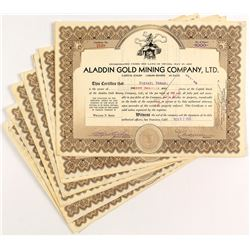 Aladdin Gold Mining Company Stock Certificates (13)